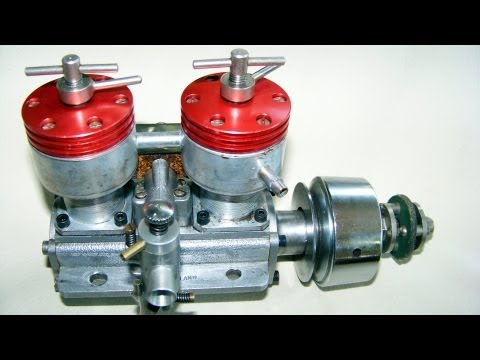 Thumbnail: 2 CYLINDER DIESEL TAPLIN TWIN 15CC running, vintage RC engine(not nitro or glow !)