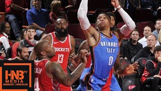 Houston Rockets vs Oklahoma City Thunder Full Game Highlights / April 7 / 2017-18 NBA Season