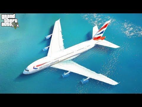 Pilot Got Hurt Lose Control Causing The A380 Emergency Landing On Water | GTA 5