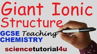 Giant Ionic Structure and Properties. GCSE science Chemistry