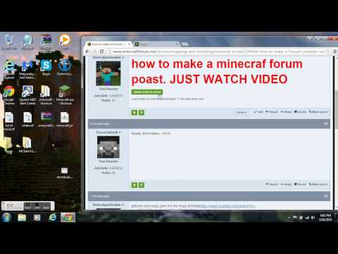 Minecraft Forum how to make a post thread