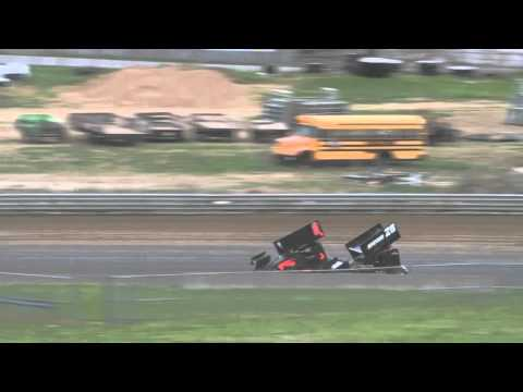 Jonathan Cornell flips at State Fair Speedway