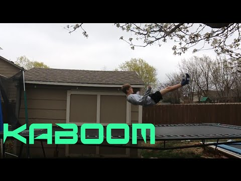 How to do a KABOOM on a Trampoline! (Tutorial Week #3)