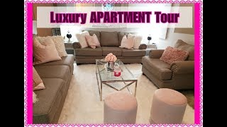 NEW  ||  2019  Luxury Apartment Tour || Grey And  Blush Pink