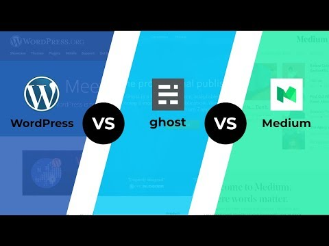 WordPress vs Ghost vs Medium - BEST Blogging Platform for You
