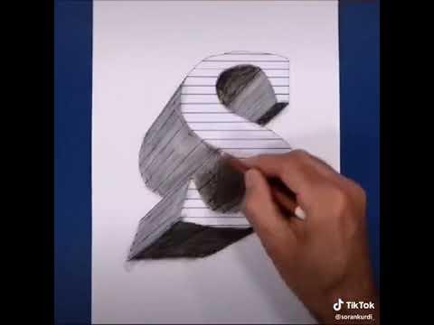 مركب مخطوطة إثارة رسم حرف S ثلاثي الابعاد Comertinsaat Com