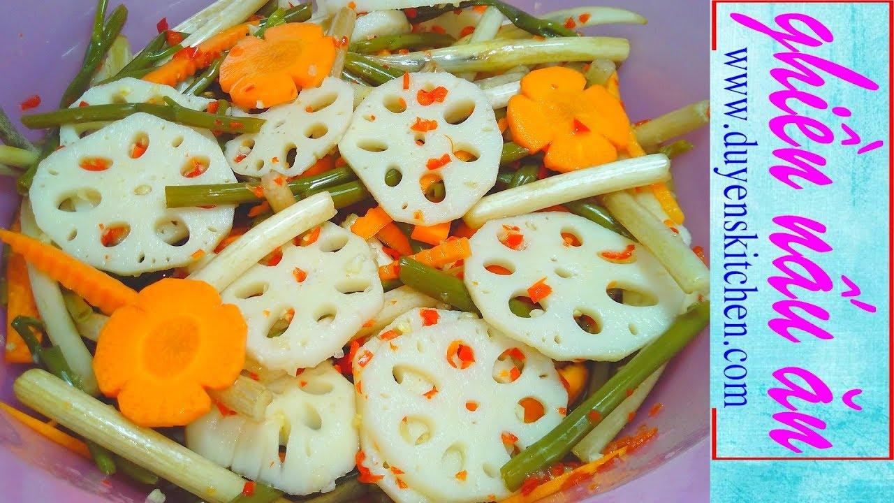 Cách Làm KIM CHI CỦ SEN Giòn Giòn Chua Cay By Duyen's Kitchen (Món Ăn Ngon Chống Ngán Ngày Tết)