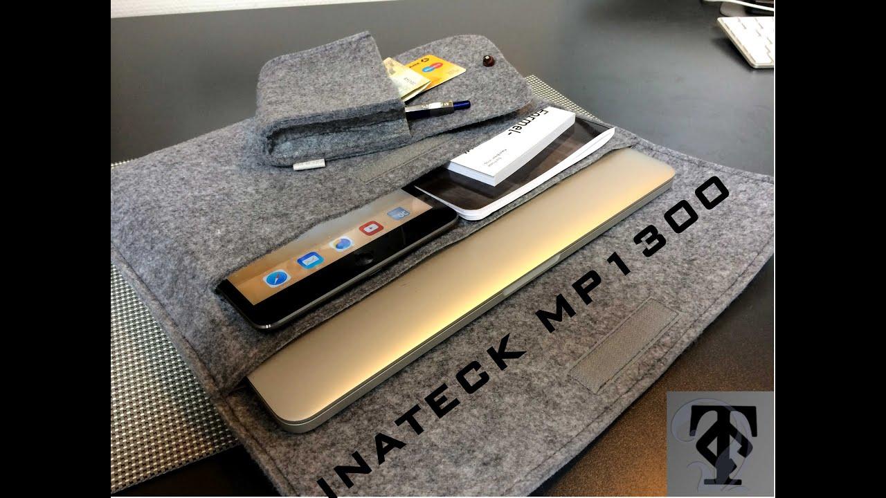 tolle 13 39 39 macbook pro filz tasche inateck mp1300 deutsch hd youtube. Black Bedroom Furniture Sets. Home Design Ideas