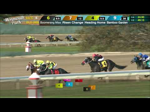video thumbnail for MONMOUTH PARK 10-21-20 RACE 5