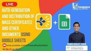 Auto-Generation and Distribution of Mass Certificates and Other Documents Using Google Sheets