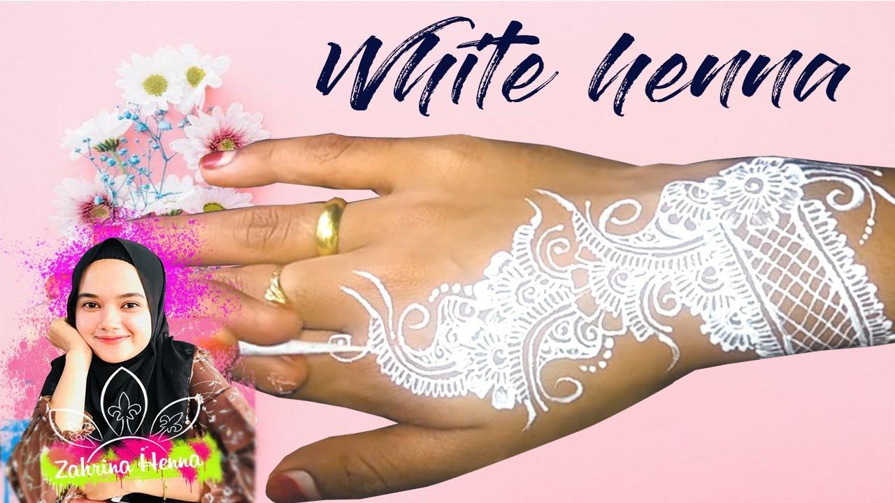 Tutorial White Henna Simple By Zahrina Henna Youtube