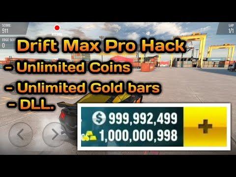 Cara Hack Drift Max Pro,Unlimited Cash,Unlimited Gold Bars (NO ROOT 2018)