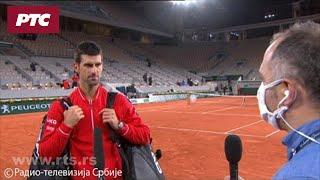 Novak Đoković za RTS nakon pobede u polufinalu Rolan Garosa
