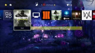 How to Download the Free Rave in the Redwoods DLC #1 THEME FOR INFINITE WARFARE ON PS4!