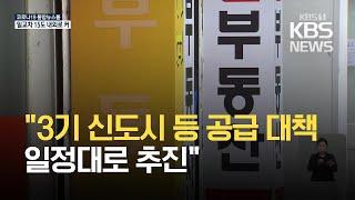 """""""3기 신도시 등 공급 대책 예정대로…부동산 대책 흔들…"""