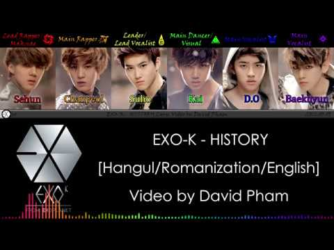 EXO-K - HISTORY [Han/Rom/Eng] Color Coded Lyrics | Spectral KPOP