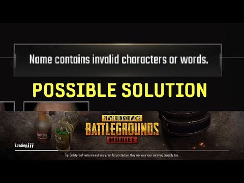 PUBG Mobile Name Contains Invalid Characters Or Words [Solved