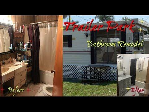 Trailer Park Bathroom Remodel YouTube - Trailer bathroom remodel