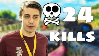 Shroud gets 24 kills on BO4 blackout!!