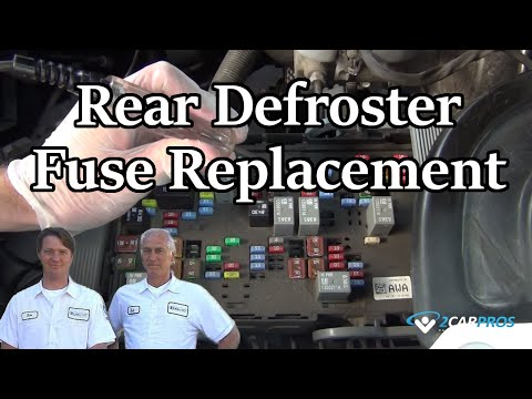 Rear Defroster Fuse Replacement