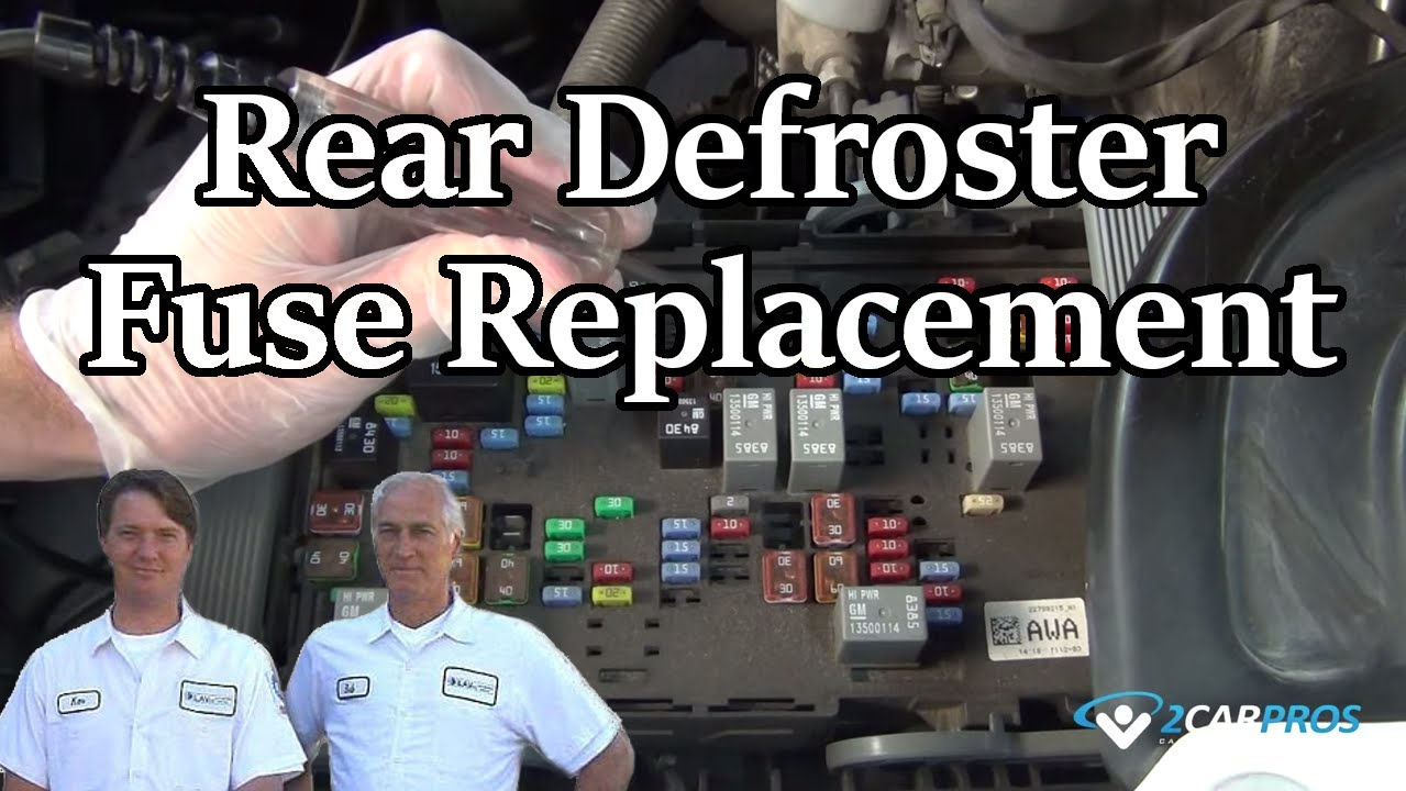 Rear Defroster Fuse Replacement Youtube 1990 Chevy Astro Wiring Diagram Tail Lights