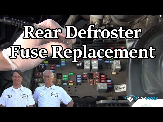 Rear Defroster Fuse Replacement - YouTube