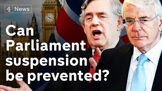 Brexit: Former Prime Ministers attack parliament suspension
