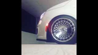 Fiat 500 not Abarth on MTechnica Turbo Wheels Airlift Air Suspension