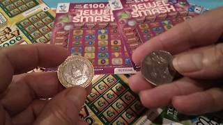 Wow!..Pot.pot.pot.Pig scratchcard Special..with Winter Wonder Lines..Jewel Smash..Cashword