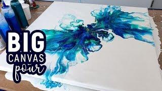 BIG Canvas Dutch Pour technique 😍 Power Pour #2 -  Acrylic Pouring, Fluid painting