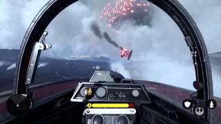 Star Wars Battlefront: Fighter Squadron Mode Gameplay - 1080p