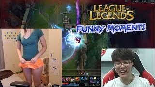 LOL Funny Moments #1 | TOP LOL PLAYS | Faker Plays without hands | Imaqtpie | Doublelift