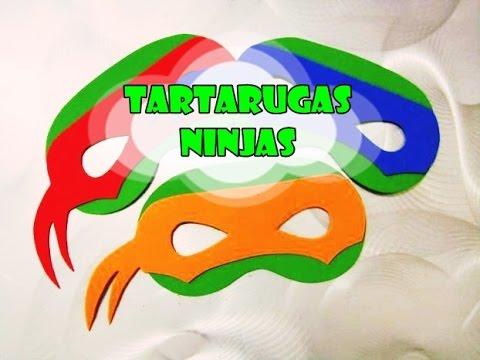 Diy Tartarugas Ninjas Mascaras Youtube
