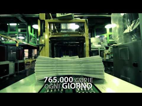 Il ciclo produttivo del quotidiano Metro in Italia