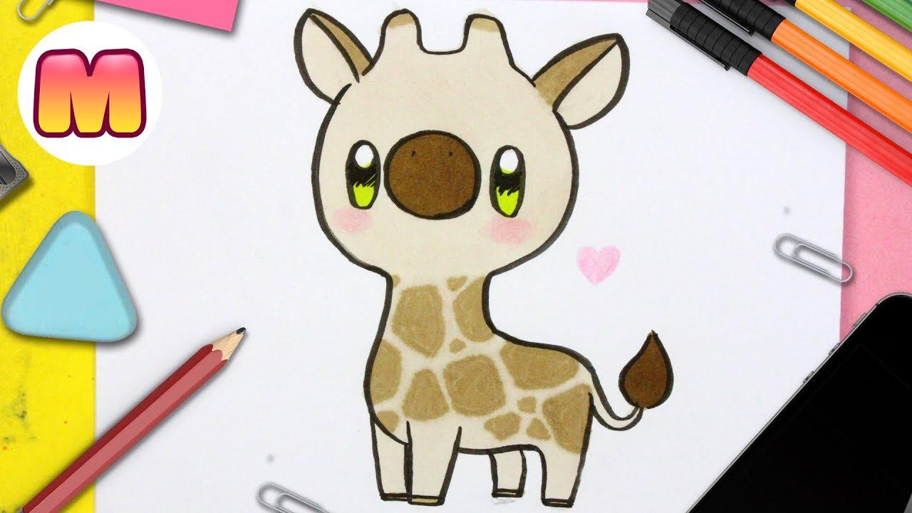 Como Dibujar Una Jirafa Kawaii Dibujos Kawaii Faciles Como