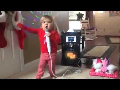 Little Girl Kills At Karaoke