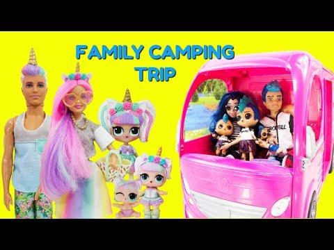 LOL Unicorn Family Punk Boi Family Camping Trip