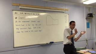 Simpson's Rule (1 of 2: Outlining the uses for simpson's rule)