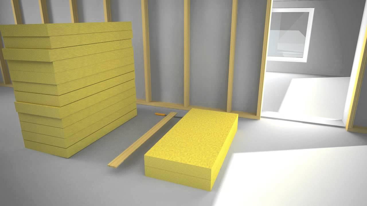 Inredning ljudisolering vägg : Isolera mellanvägg med ISOVER - YouTube