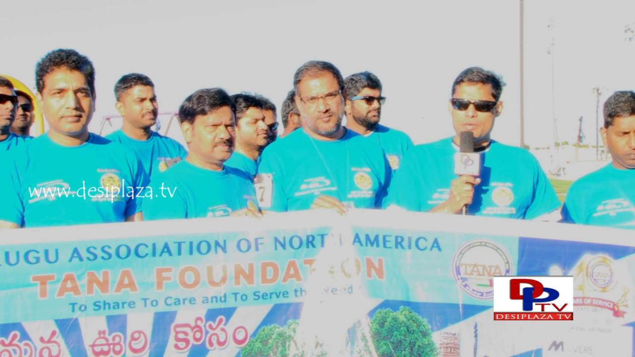 TANA Secretary Nalluri Prasad speaking at TANA Mana Oori Kosam 5K Walk & Run