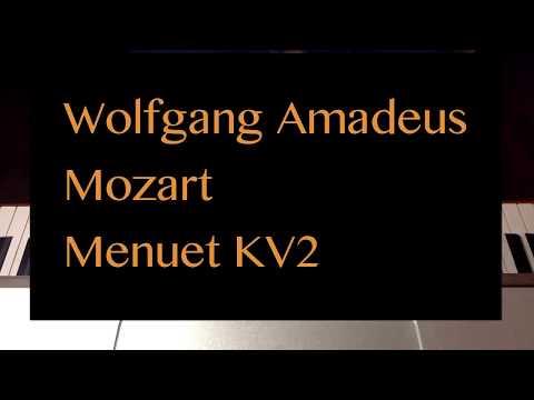 WA Mozart - Menuet KV2 piano