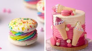 Amazing Cake Decorating Ideas Compilation | Making Color Macarons Video Tutorial | So Tasty Cake