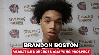 Brandon Boston: 2019 HoopHall Interview and Highlights