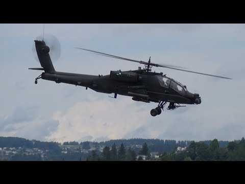 Attack Helicopter Boeing AH-64 Apache Longbow RC Scale Model @Swiss Helichallenge 2016