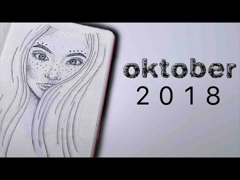 BULLET JOURNAL OKTOBER 2018! Moon theme | Mina Jacobsen