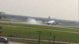 Video Air Canada 767 landing at Toronto Pearson YYZ 23 Rexdale download MP3, 3GP, MP4, WEBM, AVI, FLV Juli 2018