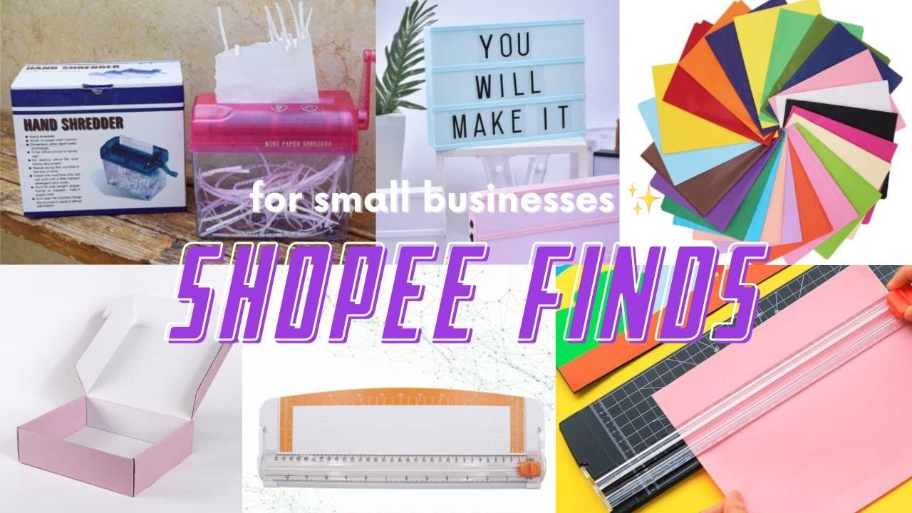 shopee haul   unboxing paper shredder, paper cutter and other stuff for small business ♡