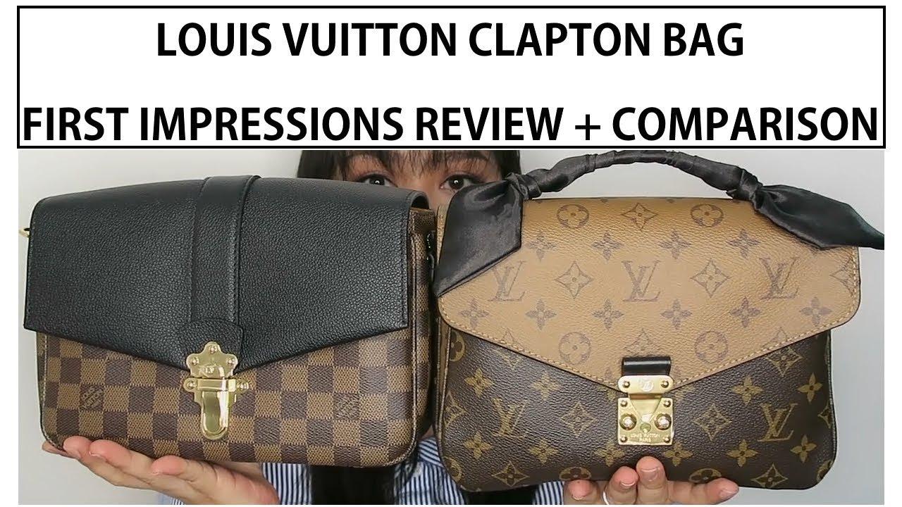b82f02e2efa LOUIS VUITTON CLAPTON BAG | FIRST IMPRESSIONS AND COMPARISON - YouTube