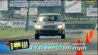 Motorweek Video of the 2007 Subaru Legacy Spec B