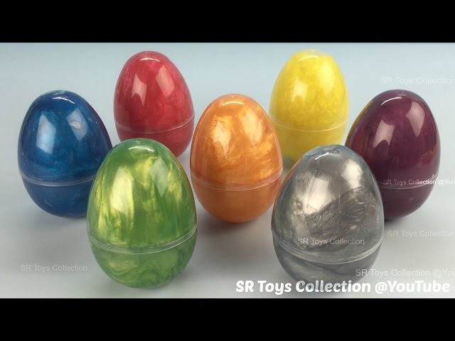 Pearl Clay Slime Surprise Eggs with Paw Patrol Toys
